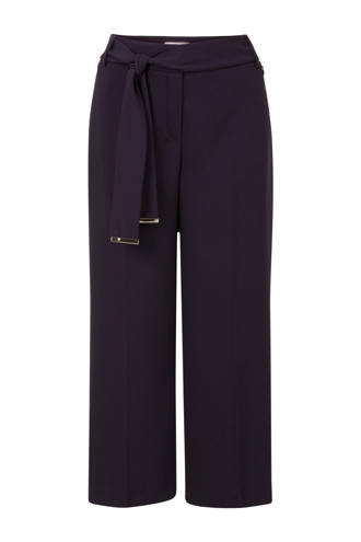 culotte straight fit donkerblauw