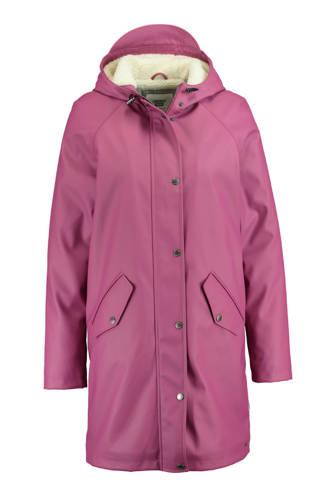 regenjas Janet met teddy voering roze