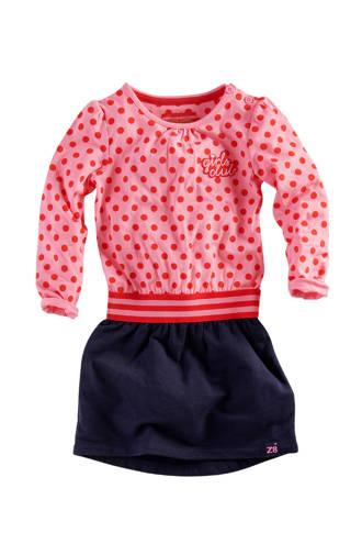 jurk Mace met stippen roze/blauw