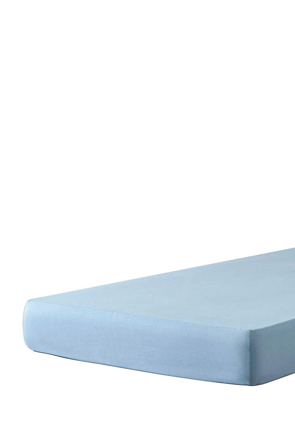 wehkamp home jersey ledikantbaby hoeslaken (60x120 cm), Lichtblauw