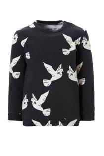 CarlijnQ sweater Love Birds antraciet (meisjes)