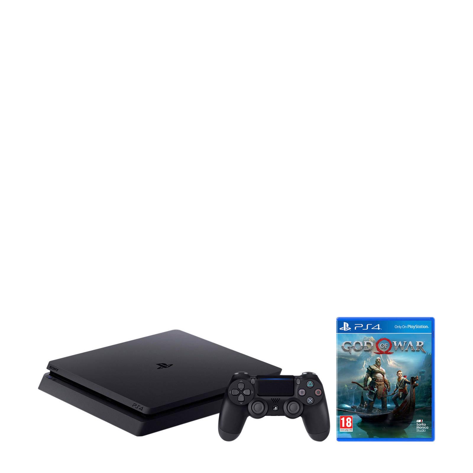 Sony - PlayStation 4  Slim 500GB zwart + God of War