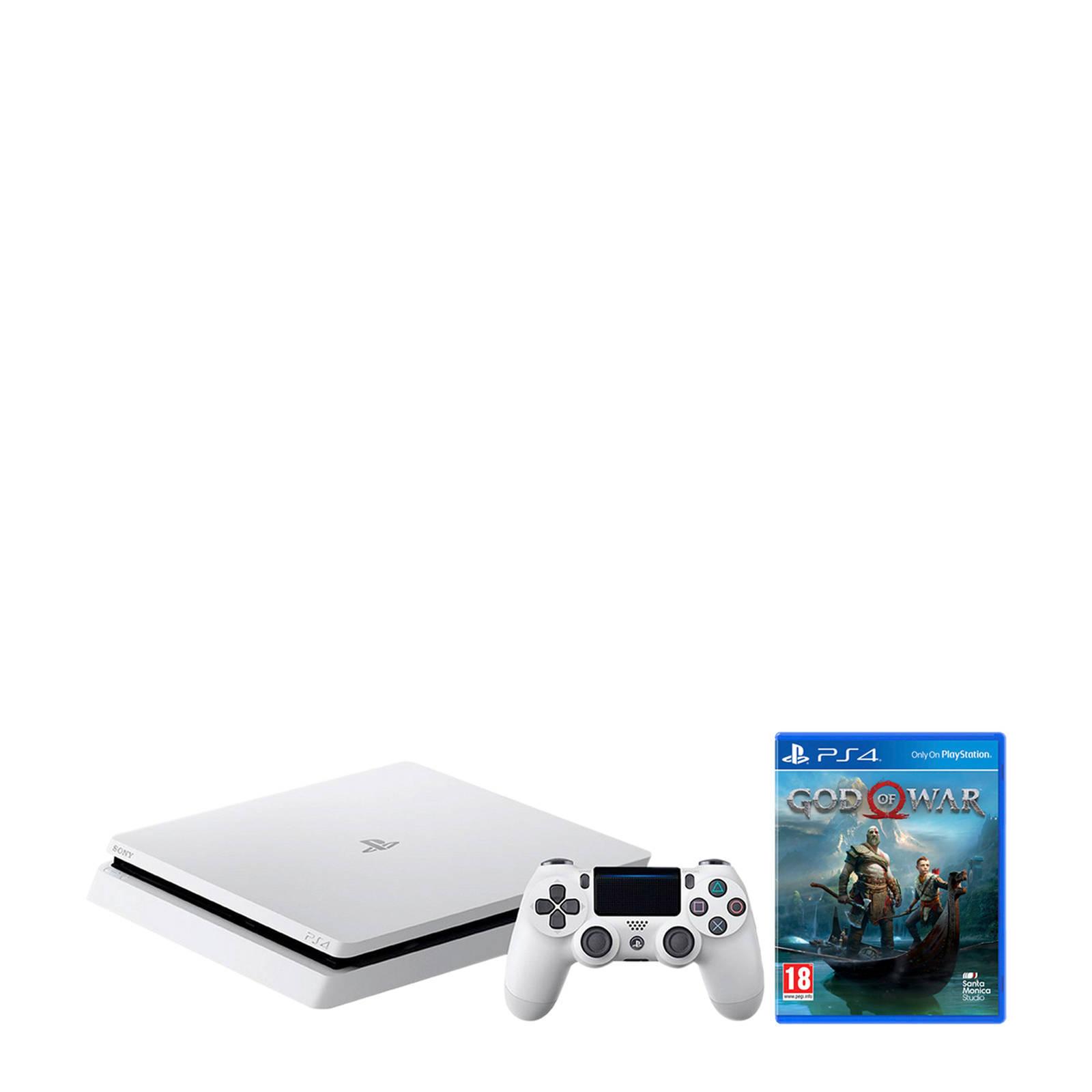 Sony - PlayStation 4  Slim 500GB wit + God of War