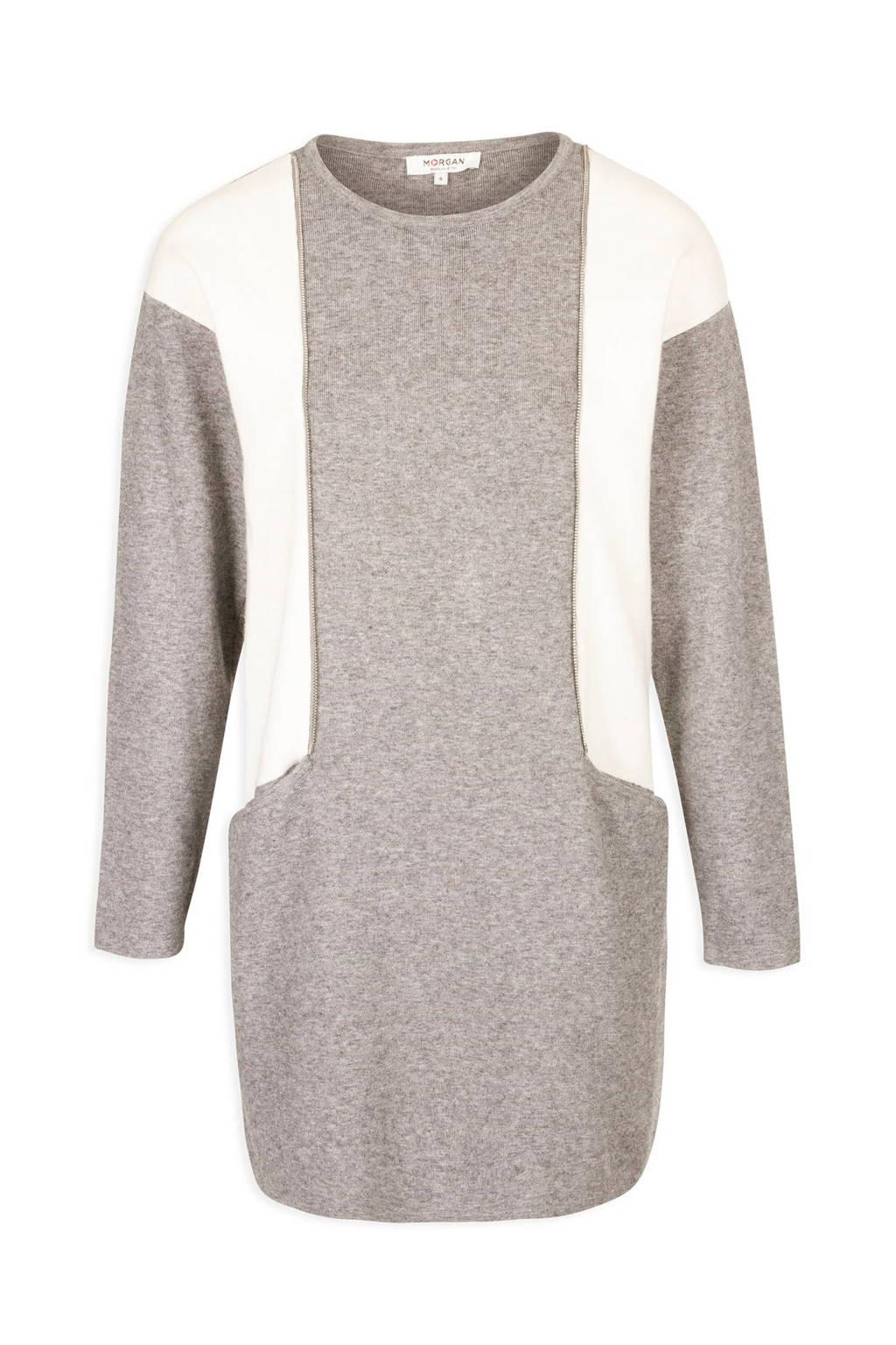 Morgan 2-kleurige jurk, GRIS MOYEN