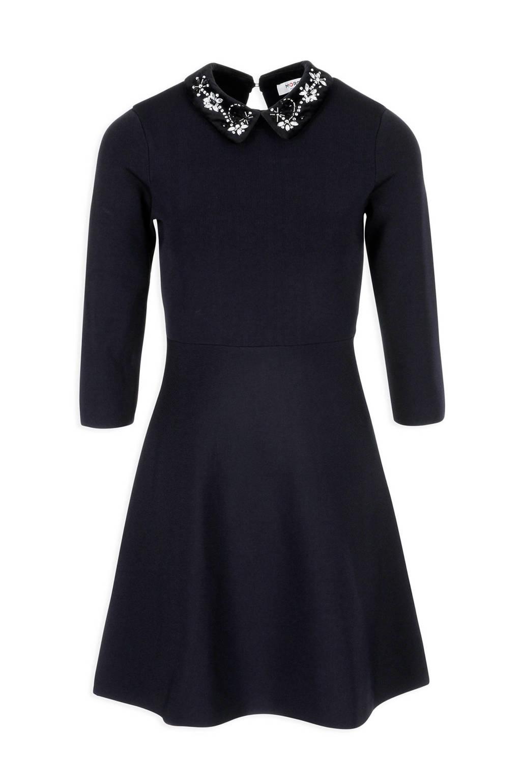 Morgan jurk met pailletten donkerblauw, Marine