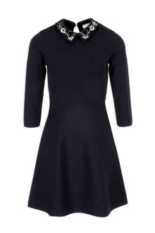 jurk met pailletten donkerblauw