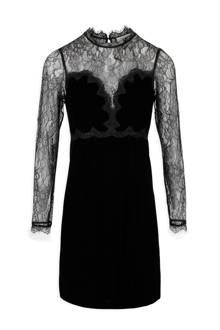 fluwelen jurk Ritchi met kant zwart
