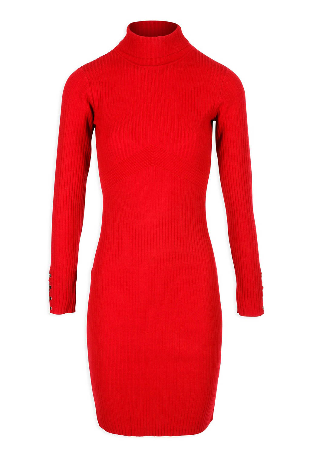 fbe5c9332abfc1 Morgan gebreide jurk rood
