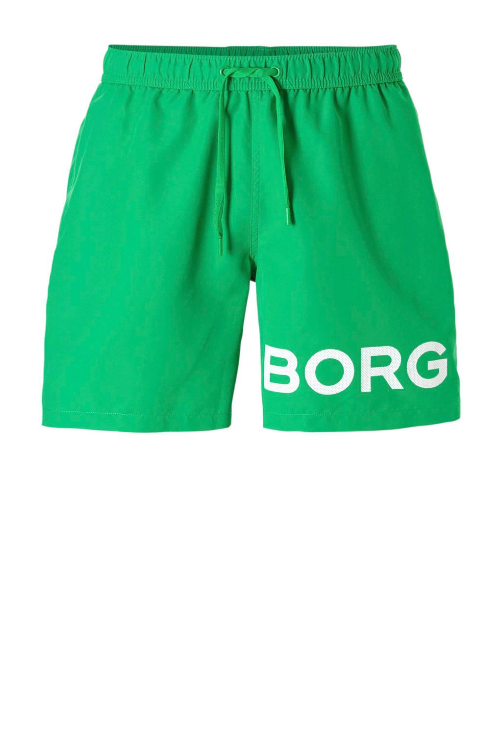 Björn Borg zwemshort met logo groen, Groen