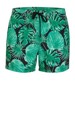 zwemshort met all-over print groen