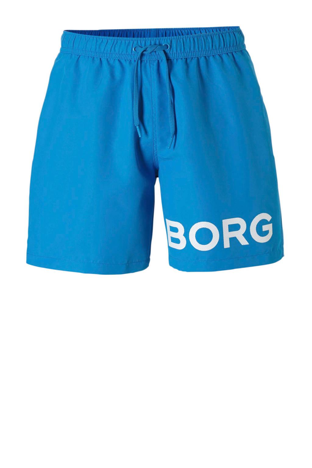 Björn Borg zwemshort met logo blauw, Blauw