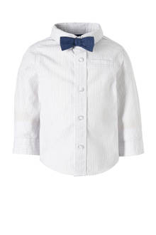 Baby Club gestreept overhemd + vlinderstrik