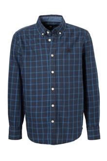 Here & There geruit overhemd blauw