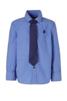 Palomino overhemd + stropdas blauw