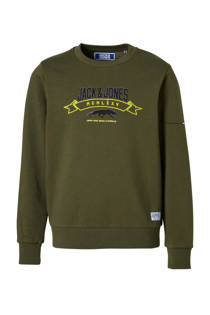 Jack & Jones Junior sweater First kaki (jongens)