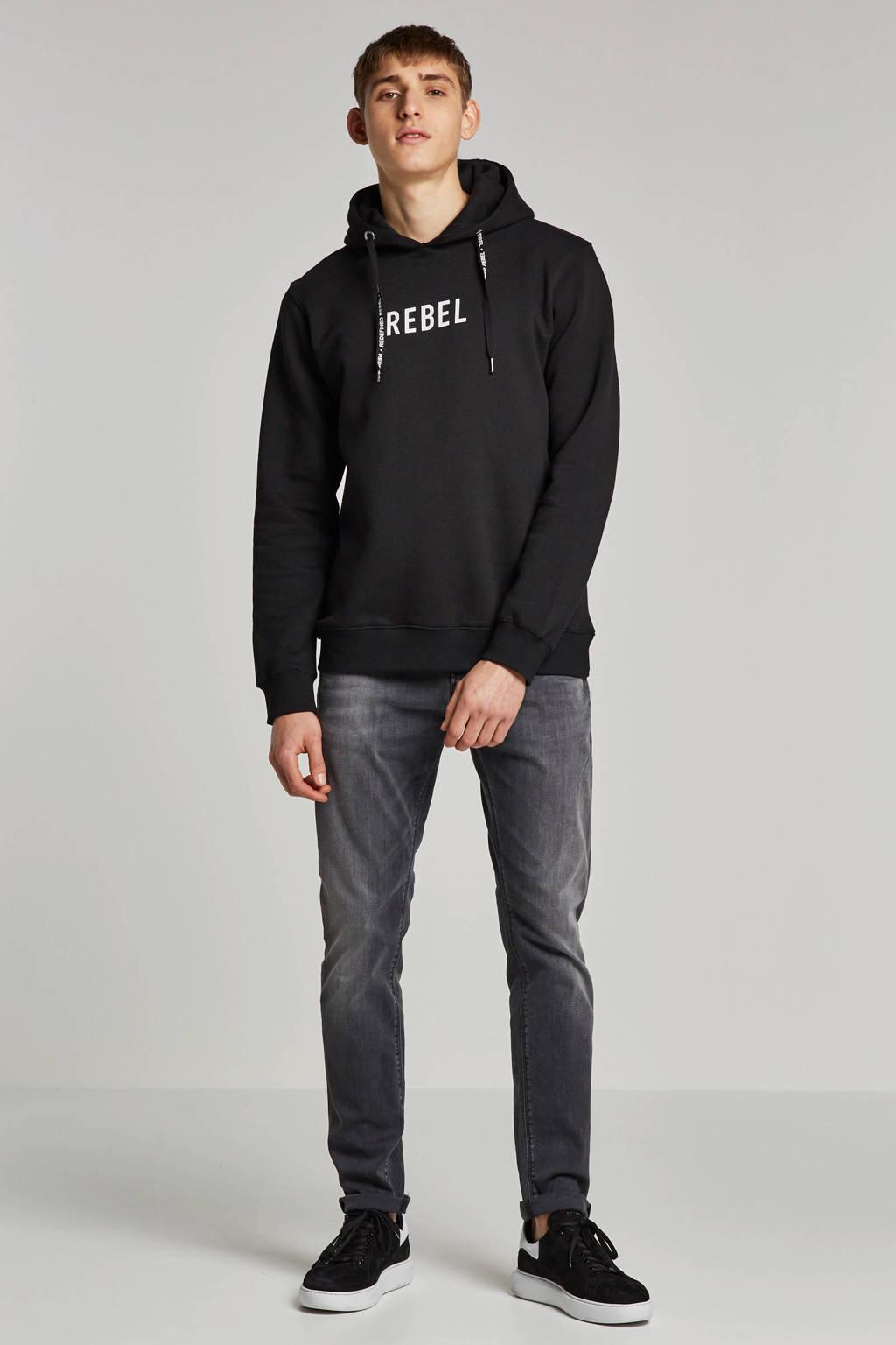 Redefined Rebel hoodie, Zwart