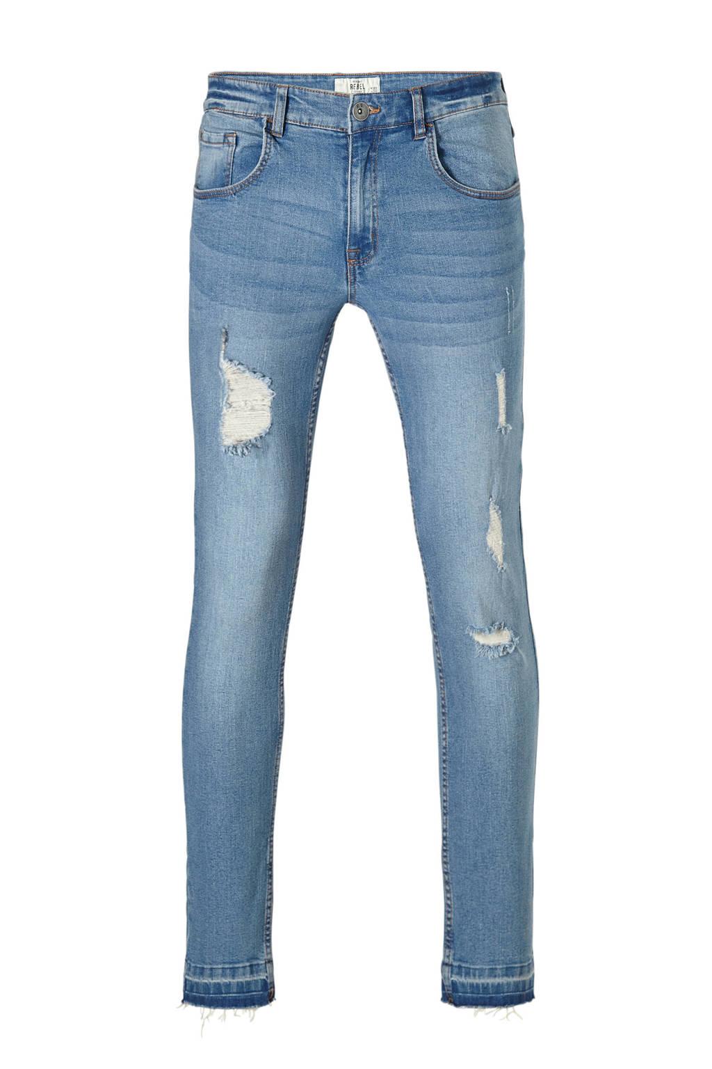 Redefined Rebel slim fit jeans Stockholm Destroy, Skyway Blue