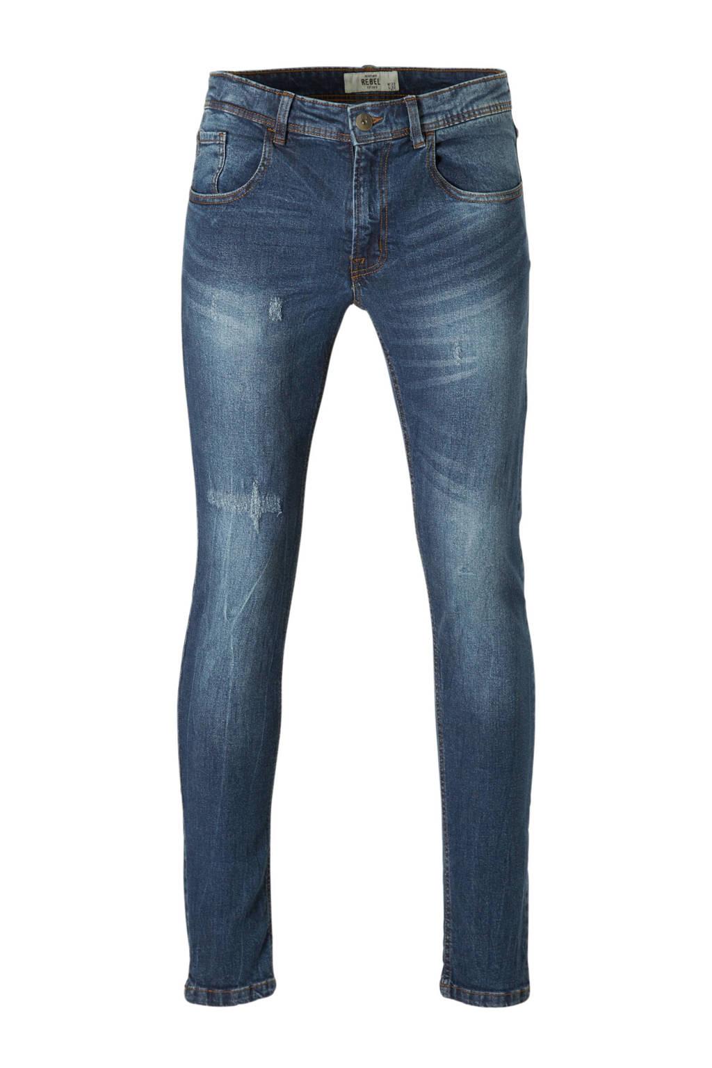 Redefined Rebel slim fit jeans Stockholm Destroy, Mosaic Blue