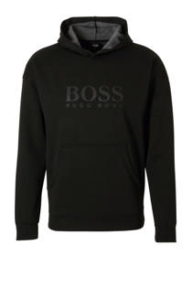 Boss  hoodie met textuur zwart (heren)