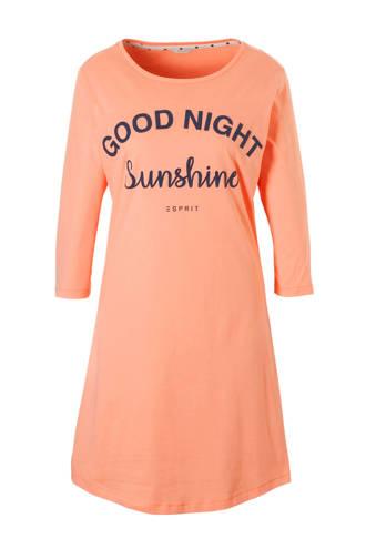 Women Bodywear nachthemd met tekstopdruk zalm