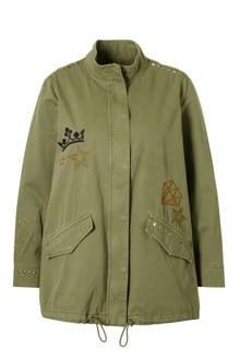XL Clockhouse jas met borduursels