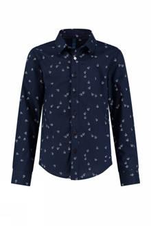 regular fit overhemd Botan met all-over print marine