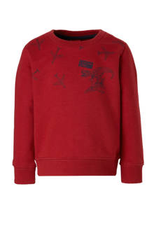 sweater met printopdruk donkerrood