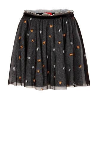 mesh rok zwart