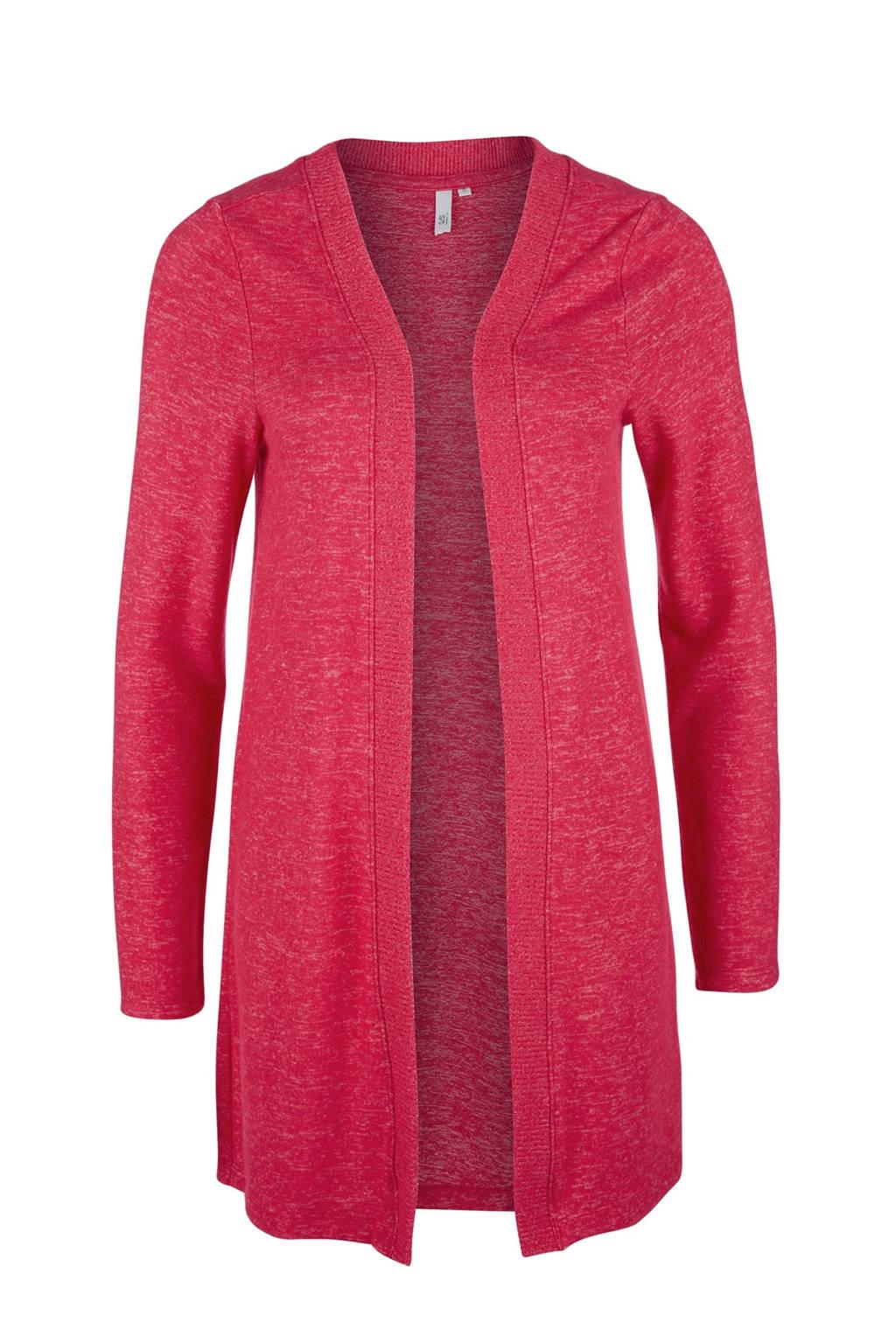Q/S designed by gemêleerd vest roze, Roze