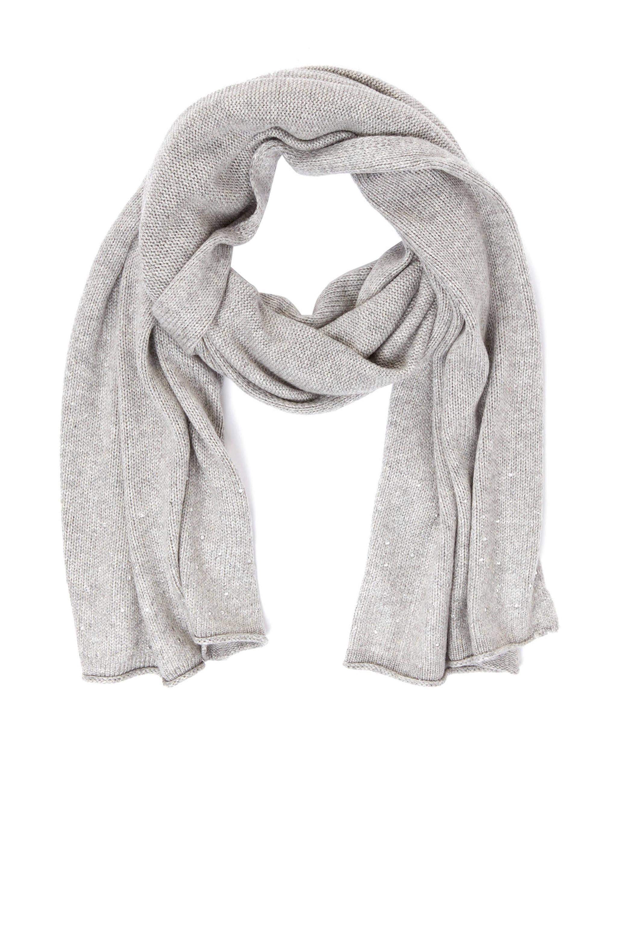 595048c3efb s.Oliver BLACK LABEL sjaal met cashmere grijs | wehkamp