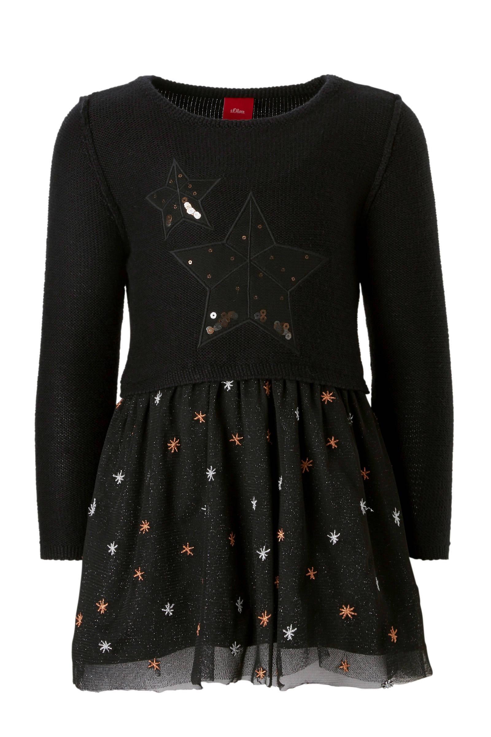 zwart jurkje met sterren