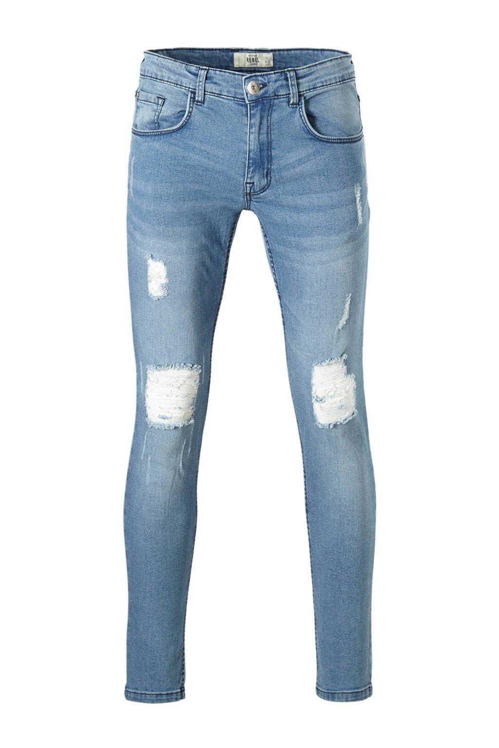 Redefined Rebel regular fit jeans Stockholm Destroy, Maya blue