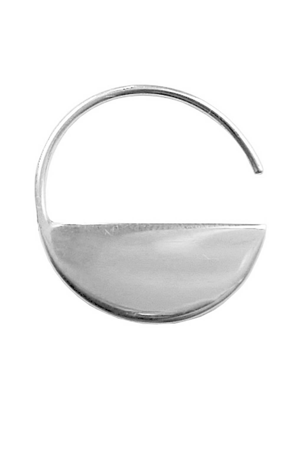 Bandhu oorbellen Horizon zilverkleurig, Zilverkleurig