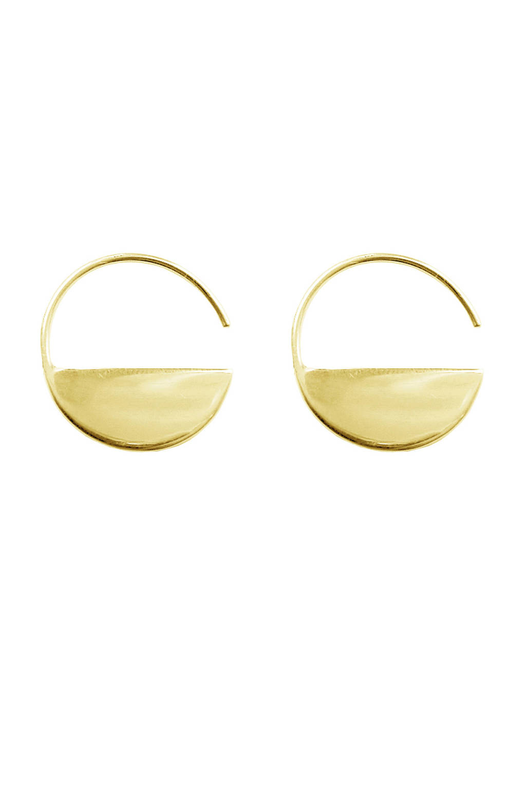 Bandhu Horizon oorbellen plated gold, Goud