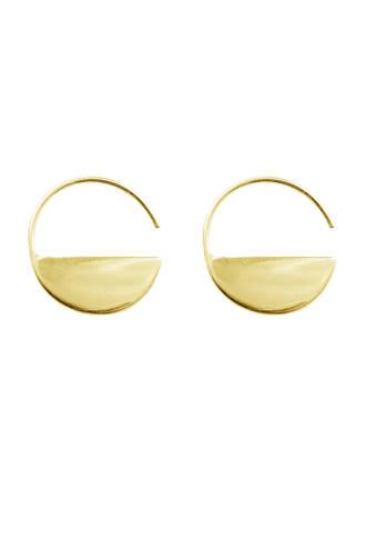 Horizon oorbellen plated gold