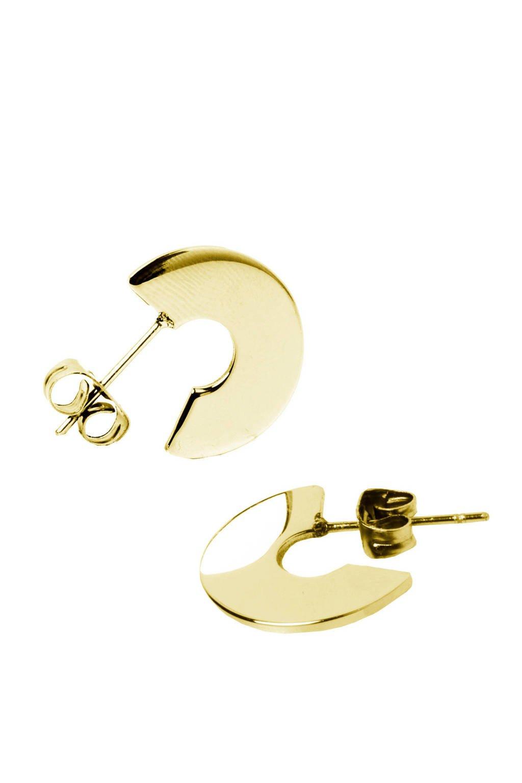 Bandhu Bold oorbellen gold plated, Goud
