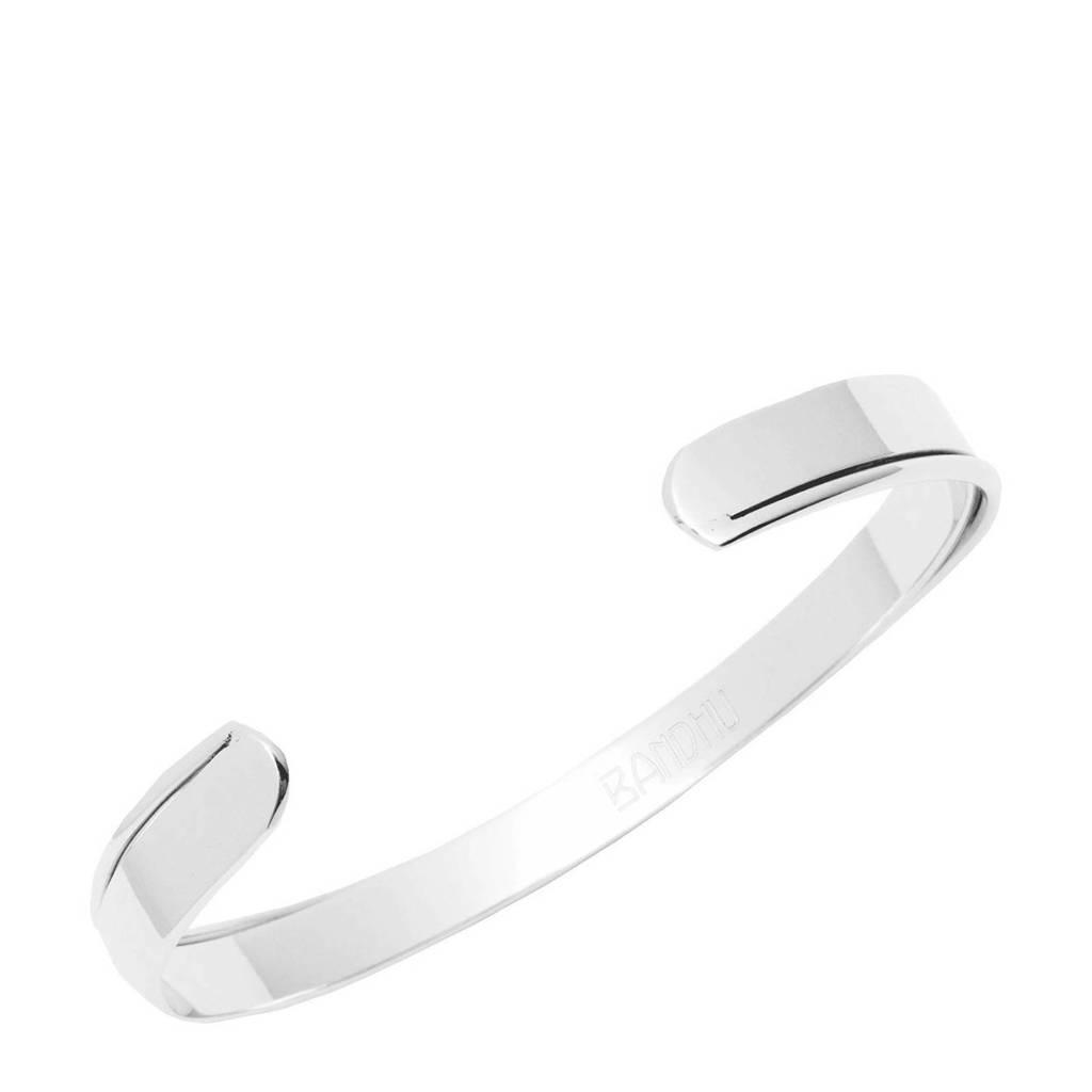 Bandhu RVS curved armband zilver, Zilver