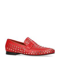 Sacha leren loafers met studs rood (dames)