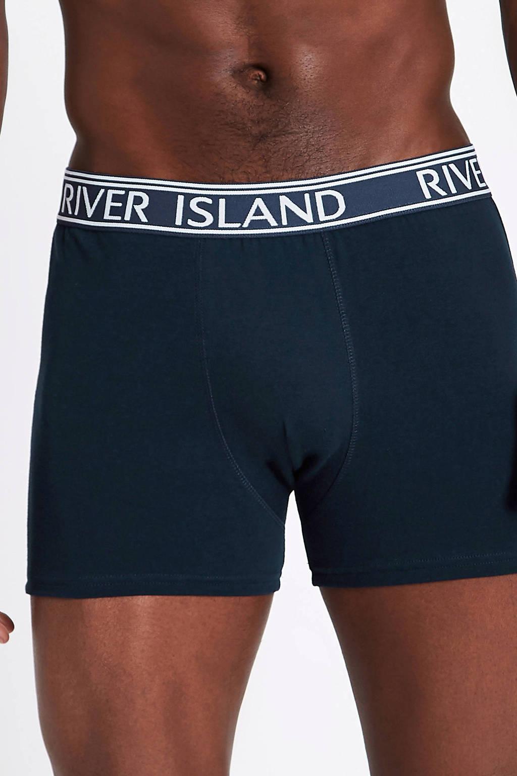 River Island boxershort (set van 5), Blauw/zwart/wit
