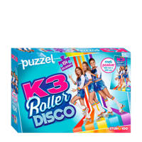 K3 Rollerdisco met poster  legpuzzel 104 stukjes, Blauw