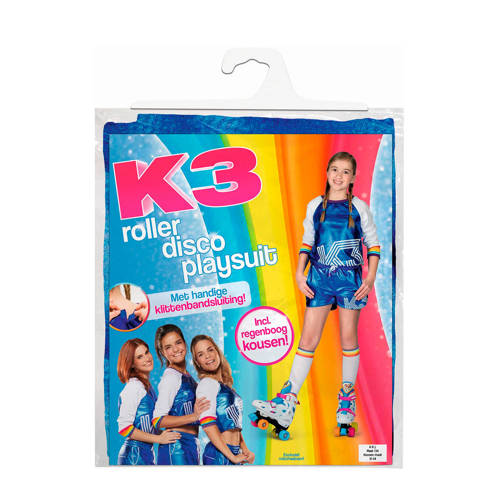 Studio 100 rollerskate outfit K3 meisjes blauw maat 116 128