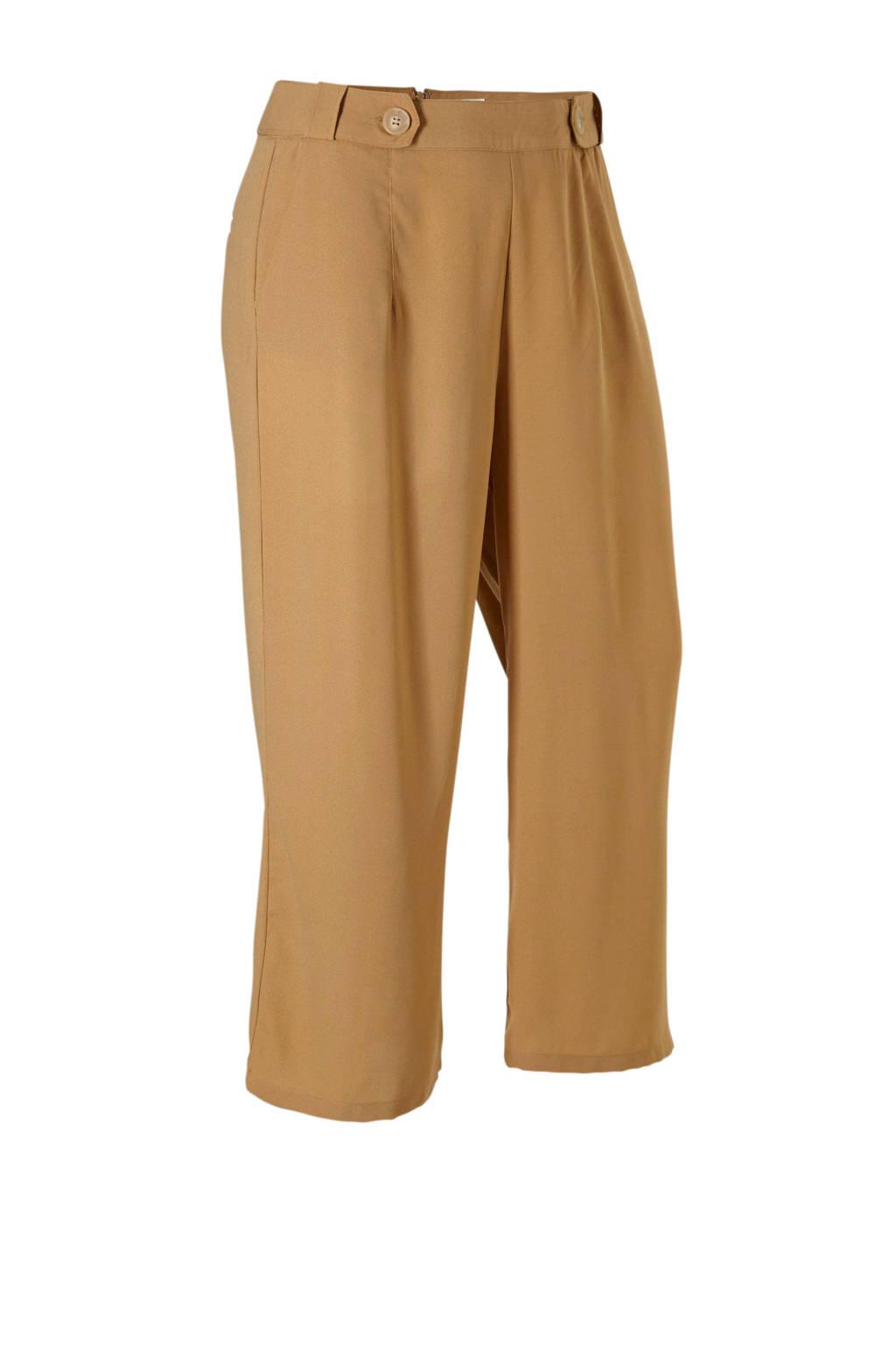 Lost Ink Plus pantalon beige, Beige