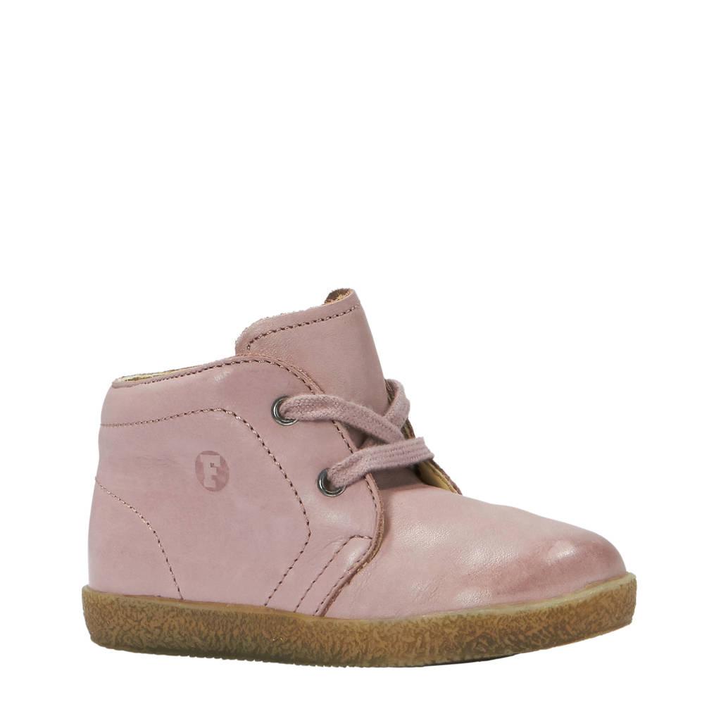 Falcotto leren babyschoenen roze, Roze