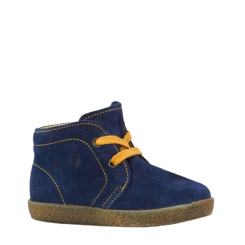 Falcotto suède baby schoenen blauw, Blauw