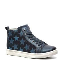 TwoDay leren sneakers met sterren donkerblauw