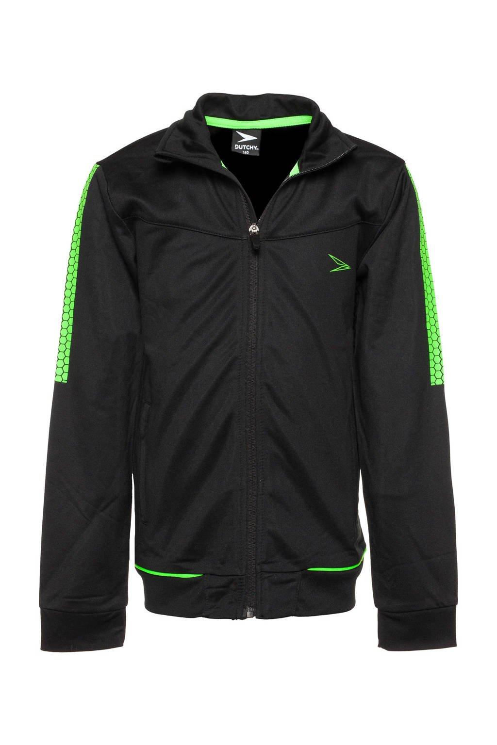 Scapino Dutchy   trainingsjack zwart, Zwart/groen