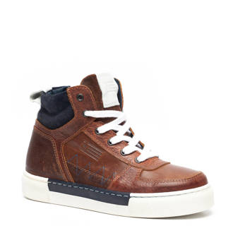 Groot  leren sneakers bruin