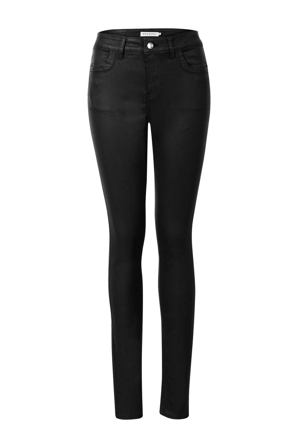 Promiss skinny broek zwart, Zwart