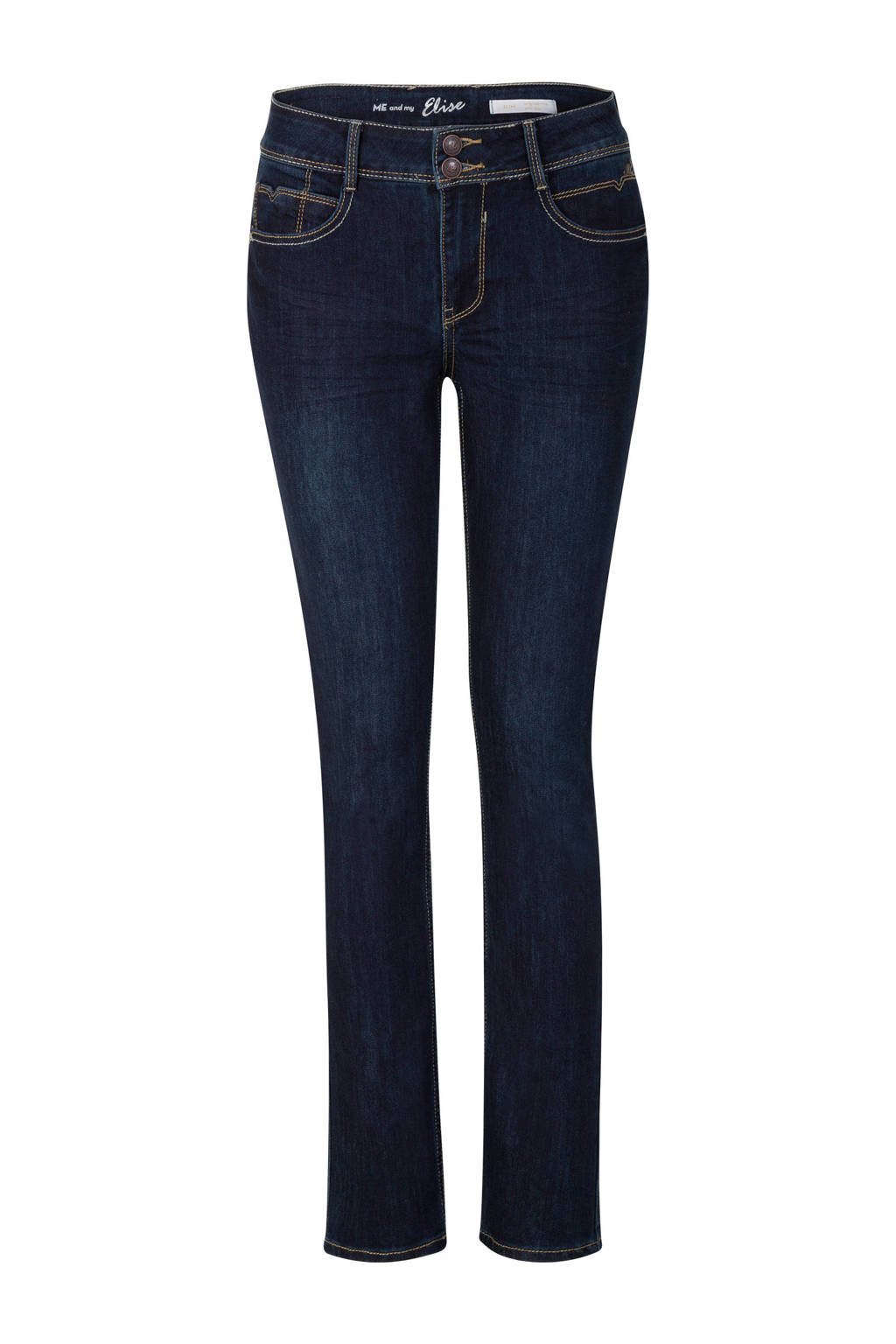 Miss Etam Regulier straight jeans Elise 28 inch, Blauw