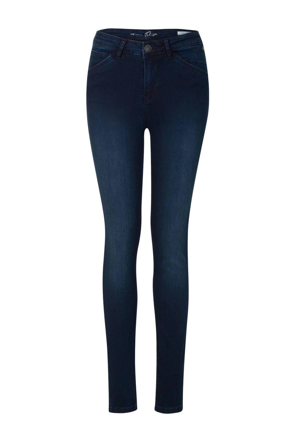 Miss Etam Regulier skinny jeans Felize Flex 32 inch donkerblauw, Donkerblauw